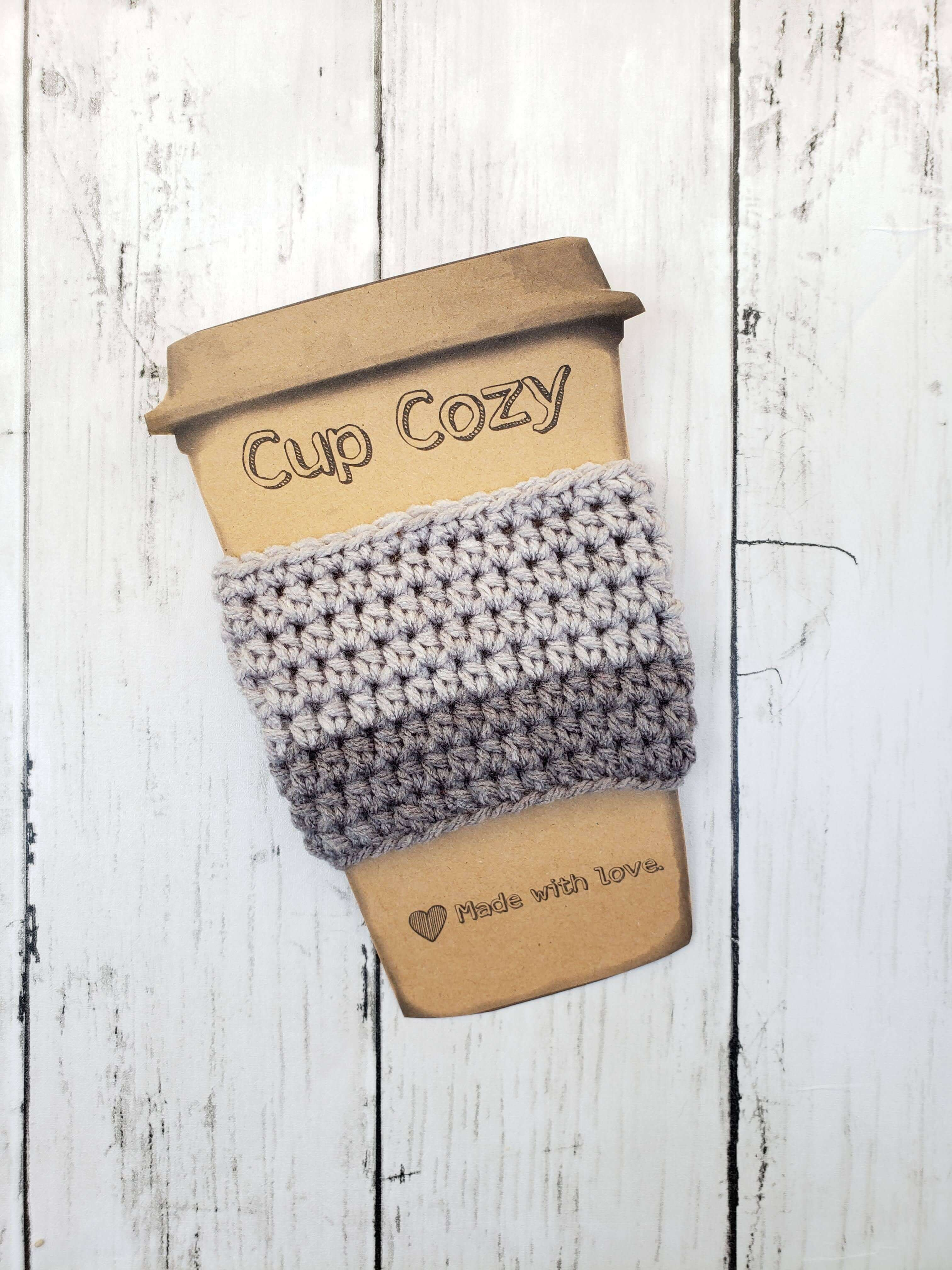 2 Toned Grey Coffee Cup Cozy