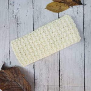 Ivory Messy Bun Ear Warmer