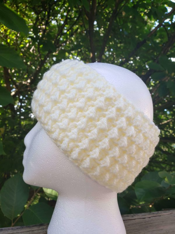 Messy Bun Ear Warmer in Ivory