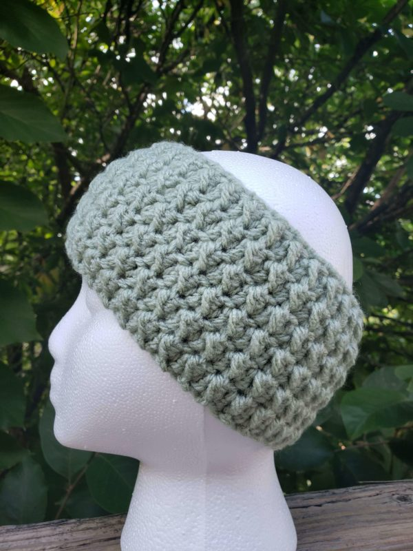 Leaf Green Messy Bun Ear Warmer