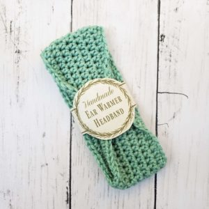 Baby ear warmer headband - leaf green