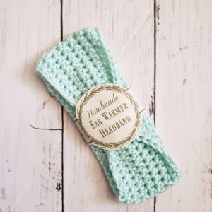 baby headband ear warmer - mint green
