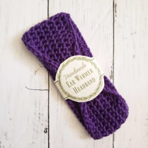 Baby ear warmer headband - purple