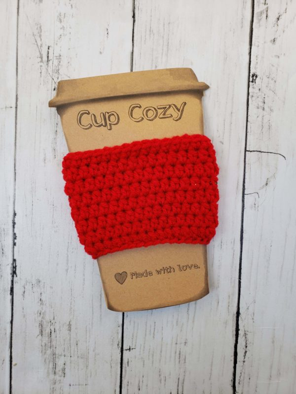Coffee Cup Cozy - Red