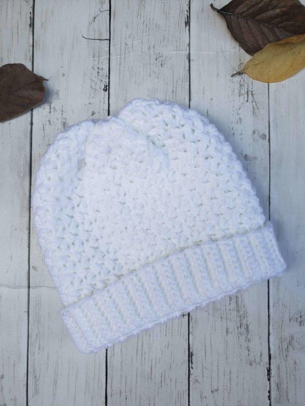 Elizabeth Slouch Hat - White