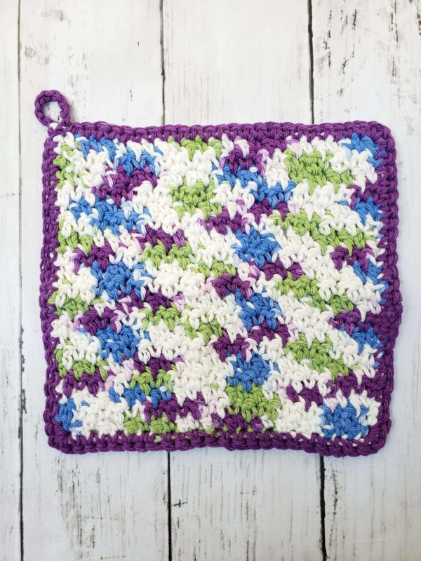 farmhouse dishcloth purple multicolored