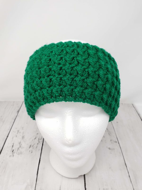 Messy Bun Ear Warmer - Green