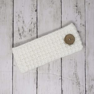 Messy Bun Ear Warmer with Button