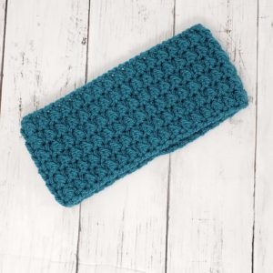 Messy Bun Ear Warmer - Deep Teal
