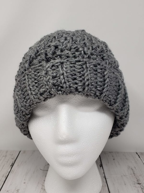 Raised Diagonal Slouch - Grey