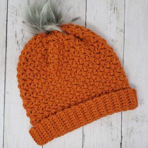 Harvest Orange Slouch Hat
