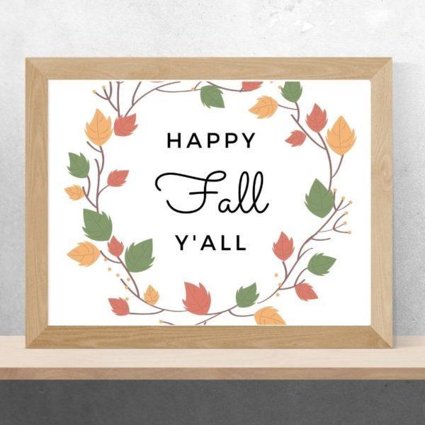 happy fall printable