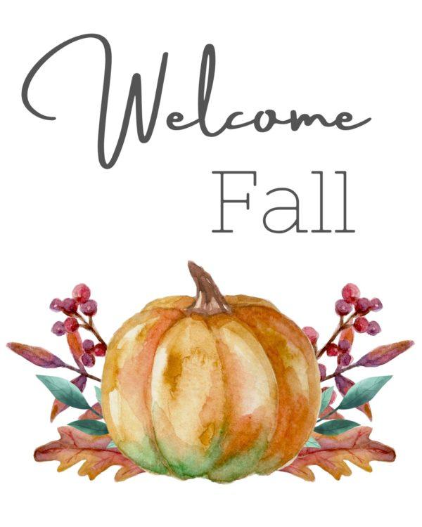 Welcome Fall Printable