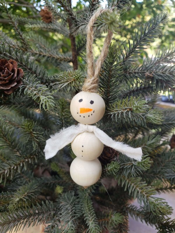 Snowman with White Scarf