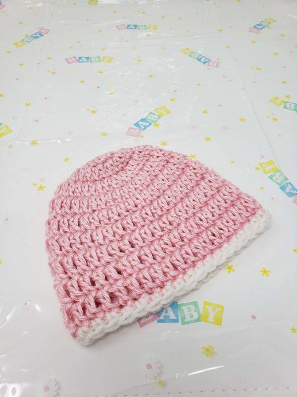 Pink newborn hat