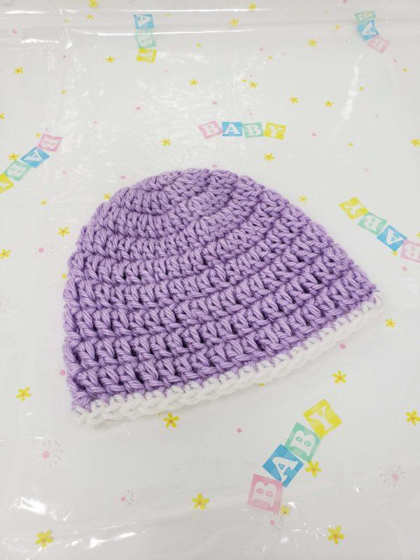 Purple newborn hat