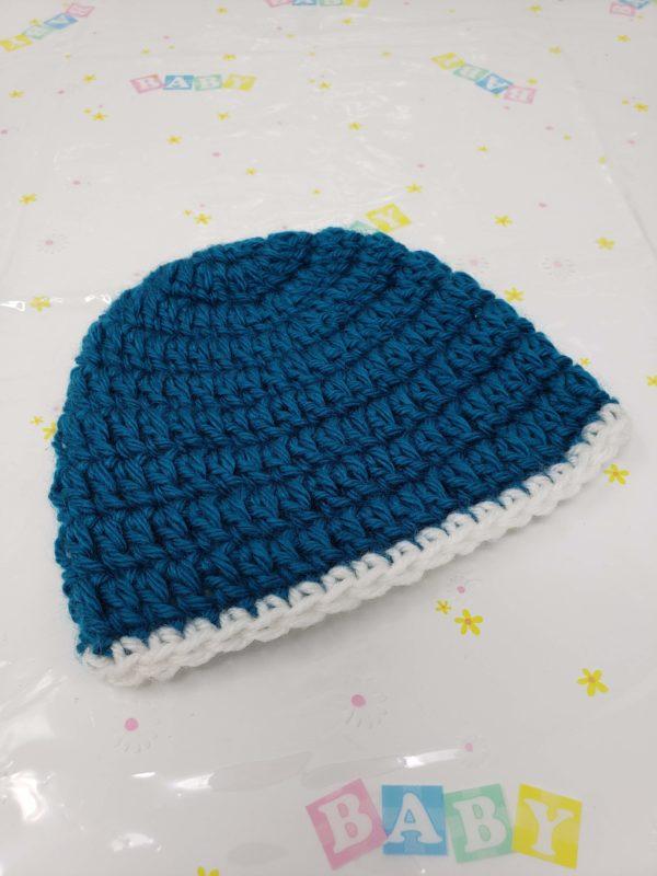 Teal newborn hat