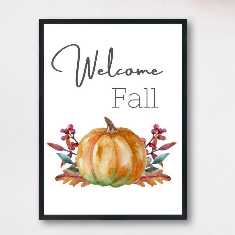Welcome Fall Printable Sign