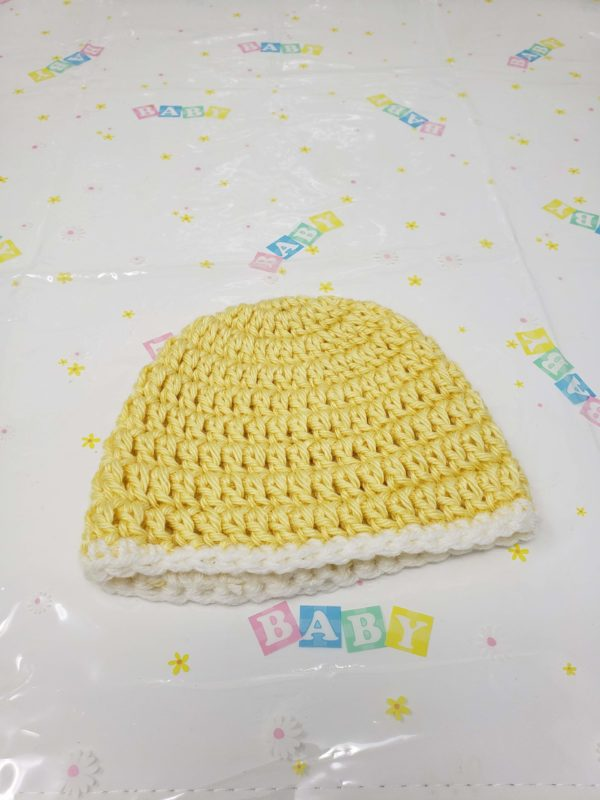 Yellow newborn hat